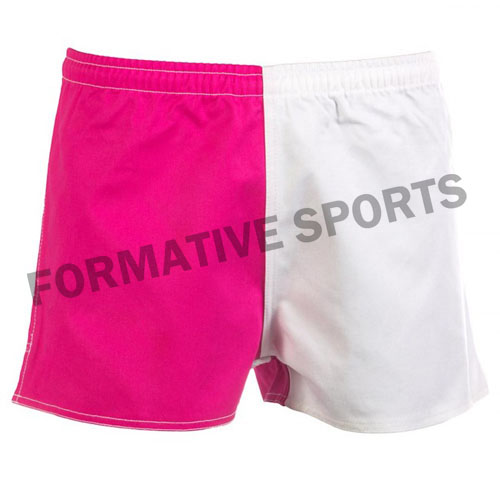 sublimated cotton rugby shorts